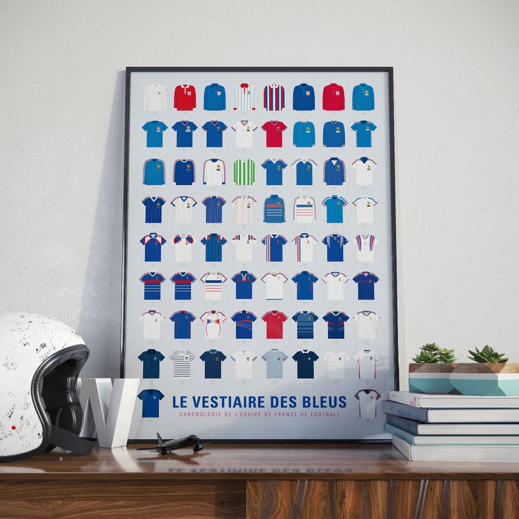 Affiche Le vestiaire des Bleus