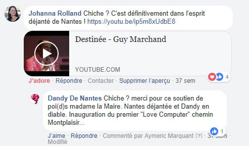 Réaction de Johanna ROLLAND à la proposition de Love Computers