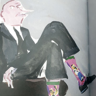 À quand remontent les premières chaussettes fantaisies de l'histoire ?