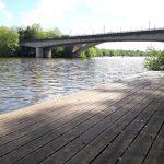 Solution de repli n°1 : Ponton sur l'Erdre avant le pont de la Beaujoire à Nantes