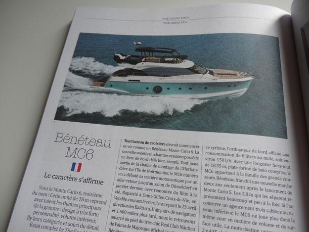 Magazine The Good Life, test du yacht Bénétau MC6