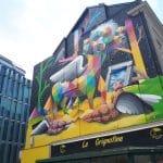 Fresque de l'artiste espagnol Okuda à Angers