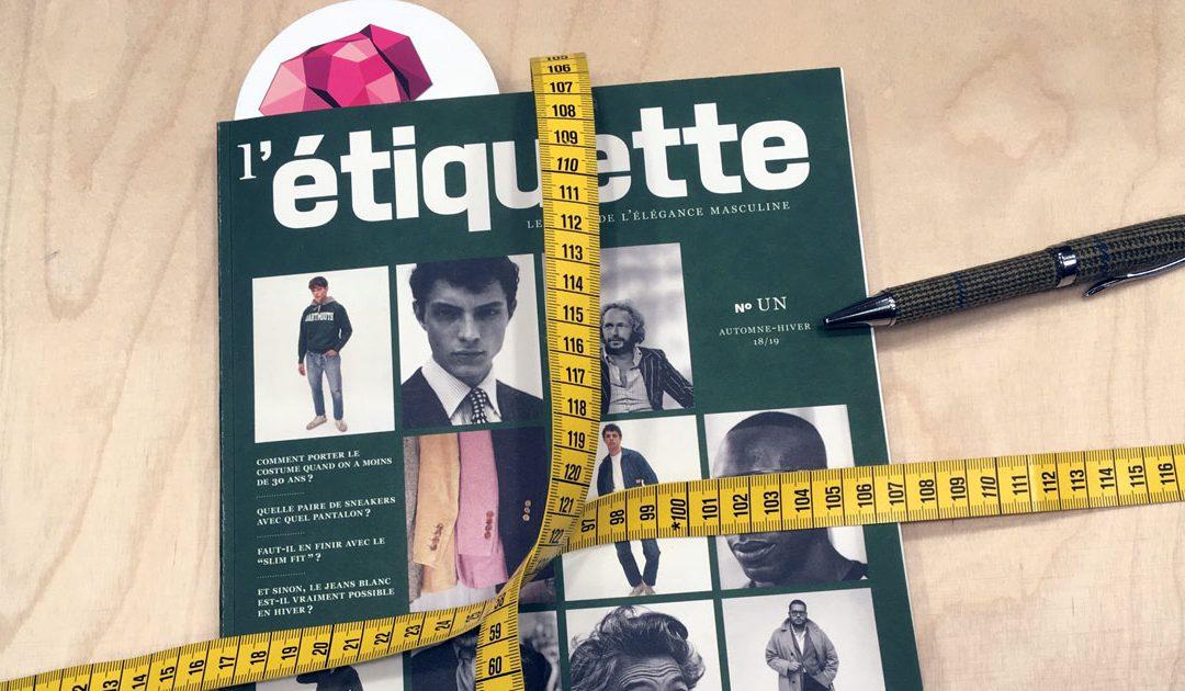 L'étiquette, Le guide de l'élégance masculine, biannuel