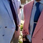 Sprezzing sur les bords de l'Erdre avec les vestes blouge en motif pied-de-poule de chez Hockerty