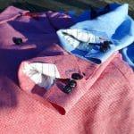 Détail de sprezzing sur les vestes blouge en motif pied-de-poule de chez Hockerty